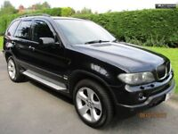 Fantastic Value 2006 56 BMW X5 3.0 Diesel Sport 129000 Miles Black Leather BMW Detach Bar HPI Clear