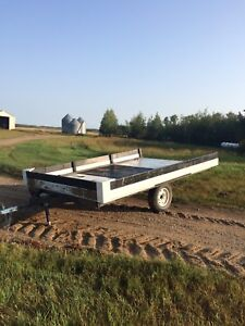 Two place sled/quad/utility trailer