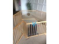 8 Side Baby Child Wooden Foldable Playpen Play Pen Room Divider Heavy Duty