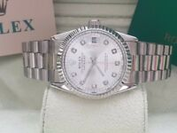 New Swiss Rolex Date Just Full Silver for sale!£35!