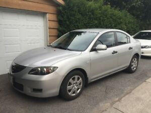 Selling 2007 Mazda3 sedan, manual, 106,000km, silver