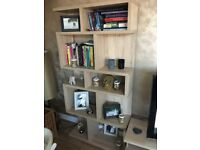 Matching tv stand and wall unit/book shelf