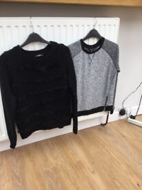 Girls black and grey jumpers