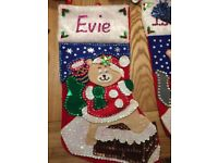 Handmade Personalised Christmas Stockings