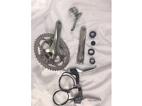 Cycling Parts Shimano Tiagra Chain set, front derailer, brake levers & cables. Will sell seperately