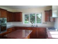 Kitchen forsale, including appliances, fridgefreezer, gas hob, double fan oven, d/w, solid wood door