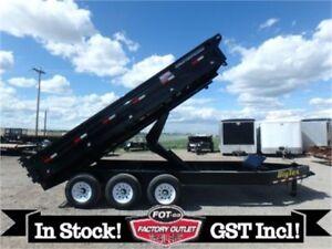 21K - 8 X 16 Deckover Dump Trailer -*FOLD DOWN SIDES!*- Tax In!