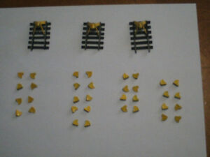HO scale dead end bumpers and wheel stops