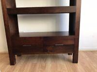 Dark Brown Wooden Bookshelves in good condition