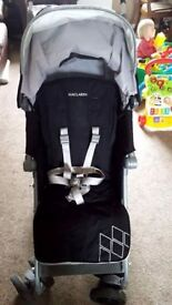 Maclaren Techno XT Pushchair in Black/Silver - only 8 mths old