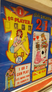 VINTAGE 1964 BALLY 2-IN-1 PINBALL MACHINE GAME 2 PLAYER AS IS