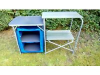 Aluminium Camping Kitchen and Table Set Kitchen Unit Foldable