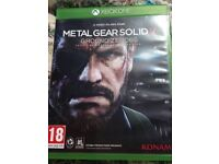 Xbox one game .Metal Gear Solid .Ground Zerous.