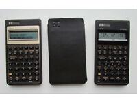 2 x Hewlett Packard business calculators (HP 17Bii and HP 10B)