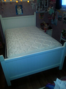 Double bed with mattress and box spring $400 OBO