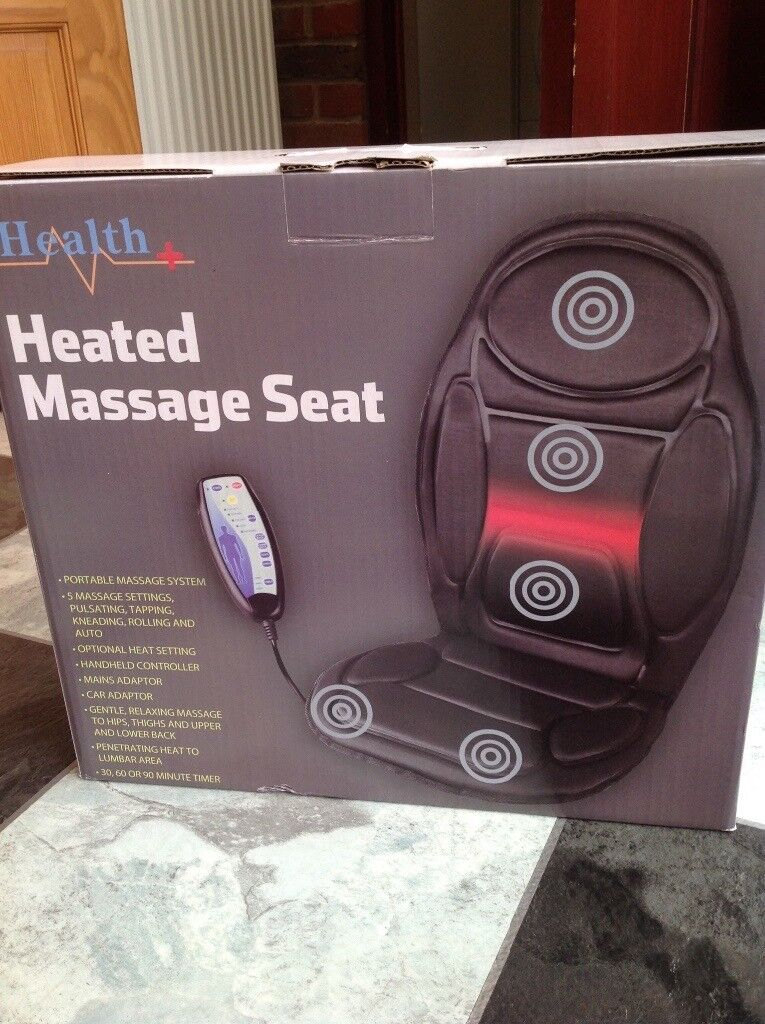 Heated massage seat