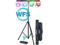 KAM Power Partybar WFS / Band DJ LED Lights 4 Light Bar with Wireless Foot controller - still boxed