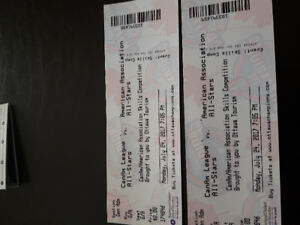 2 Billets pour partie de baseball / 2 tickets for baseball game