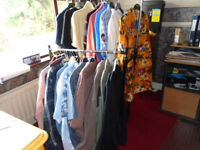 50 PIECES (approx.) of GENTS CLOTHING, SOME BRAND NEW, ALL SORTS, L to 3XL, PLUS LADIES NEW CLOTHING