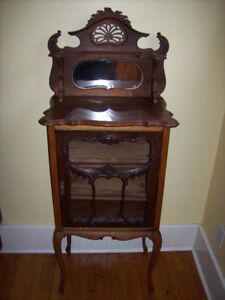 SMALL ANTIQUE CHINA CABINET