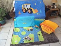 Boys Next full Digger bedroom set ideal for first bedroom after initial nursery stage