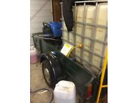 High powered pressure washer trailor water tank