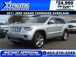 2011 Jeep Grand Cherokee Overland $229 b/w APPLY NOW DRIVE NOW