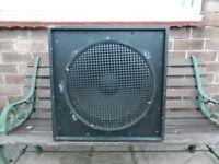 One 15 inch Eminence beta 15A loud speaker in cabinet