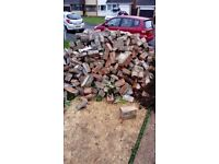 Free bricks fro demolished garden wall