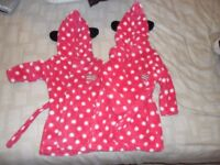 2 X GIRLS MINNIE MOUSE DRESSING GOWNS 2 SIZES