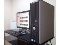 Complete PC. Dell 780 - Windows 7 - Intel 2.80GHz Dual Core.