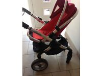 ICandy Peach in tomato. Great unisex pushchair