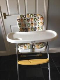 Joie owl foldable high chair