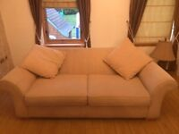 Sofas - 2 & 3 seaters in cream with cusions ***Need Gone ASAP Hence ONLY £79 For Both