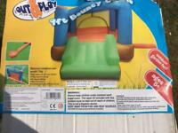 9ft kids bouncy castle with slide