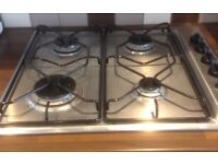 Gas hob, stainless steel 4 burners by Ignis