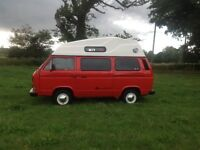 VW T25 hightop campervan