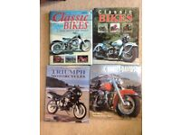 Bundle of HB books about classic Motorcycles etc