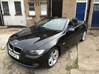 black bmw 320d convertible