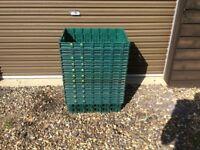 Plastic stackable storage creates/boxes