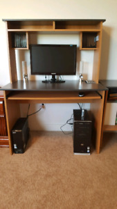 Student Computer Desk with side Caninet