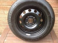 New wheel and tyre unused