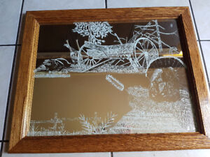 K Marche 1964 One Of A Kind Reverse Etched Mirror