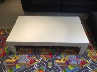 White Glass large coffee table 140x80cm