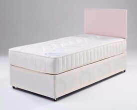 🎀 **100% GUARANTEED PRICE!**Single Bed/Double/Small Double Divan Bed With Full Orthopedic Mattress