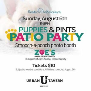 """ZOE's Animal Rescue Society """"Puppies & Pints Patio Party"""""""