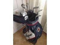 Immaculate golf clubs and golf tour bag
