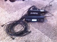 Roland TD-4 MODULE ,PSU, and Cable Snake