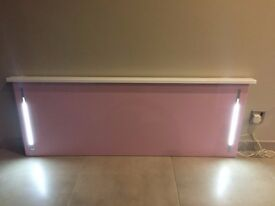 LED Double Bed Headboard Pink