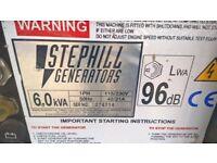 Stephill generator 6.0kva 110v240v